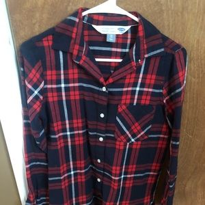 Old Navy plaid shirt XS